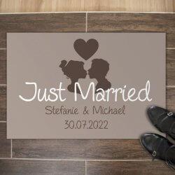 Hochzeitsgeschenk Fußmatte