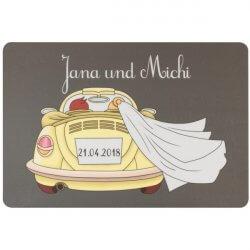 Personalisierte Fussmatten Hochzeit
