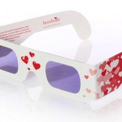 Herzbrille zur Hochzeit