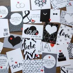 52 Postkarten zur Hochzeit