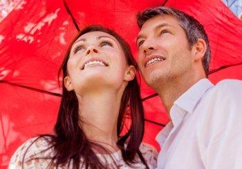 Hochzeitsspiel Regenschirmtanz