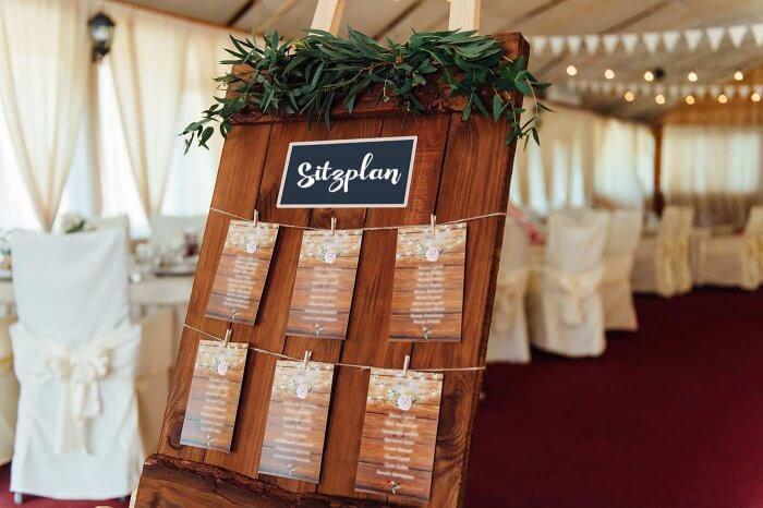 Sitzplan Hochzeit