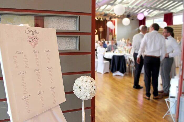 Sitzplan Hochzeit Leinwand
