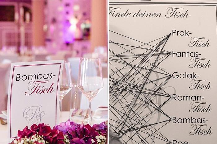 Tischordnung Hochzeit Ideen