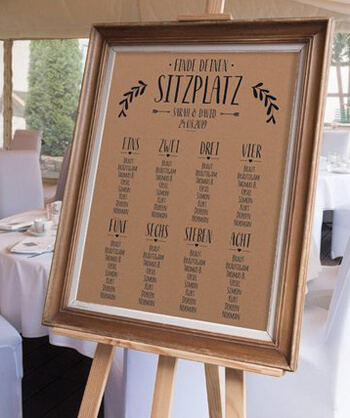 Tischplan Hochzeit kaufen