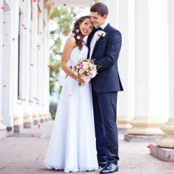 Weißes Kleid Standesamt