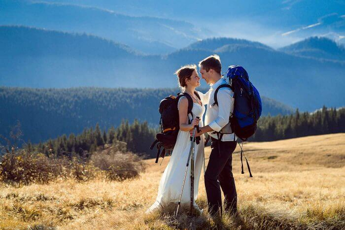 Trash the Dress Wanderung